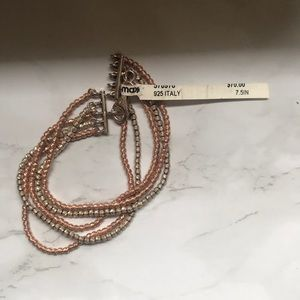Jewelry - Silver and Rose Gold Bracelet